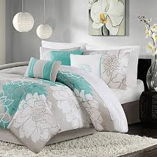 Madison Park Duvet Sets Madison Park Lola 7 Piece Comforter Set In Aqua Bed Bath U0026 Beyond