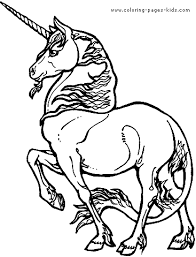 unicorn color page fantasy medieval coloring pages color plate
