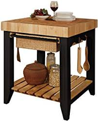 Kitchen Island Chopping Block Amazon Com Crosley Furniture Marston Butcher Block Rolling