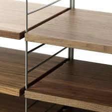 Walnut Bookshelves Shelving System Walnut By String