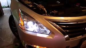 nissan altima youtube 2014 how to install led bulbs for nissan altima headlights 2013 2014