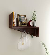 wall shelves pepperfry wall shelf with key holder at rs 999 buy online at pepperfry com