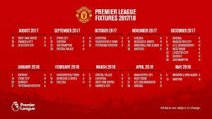 Jadwal Liga Inggris Jadwal Pertandingan Liga Inggris Manchester United Musim 2017 2018