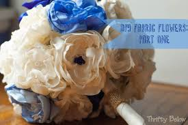 Fabric Flowers Diy Fabric Flowers Part One Thrifty Below