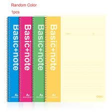 couverture de livre vierge aliexpress com acheter deli 7688 a4 cahier à spirale 60 feuilles