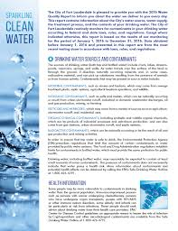 Ft Lauderdale Zip Code Map by City Of Fort Lauderdale Fl Water Quality Report And Online