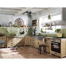 deco cuisine maison du monde meuble bas de cuisine avec évier en pin recyclé l90 meuble bas
