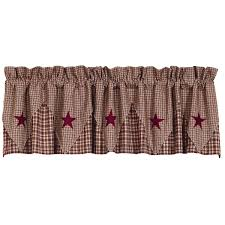 amazon com ihf home decor pointed valance vintage star wine