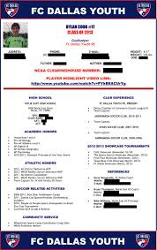 Soccer Coach Resume Samples Soccer Resume Sample Virtren Com