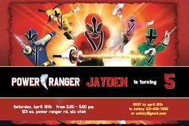 power ranger birthday invitations reduxsquad com