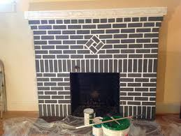 painting brick fireplace colors u2014 jessica color simple way to