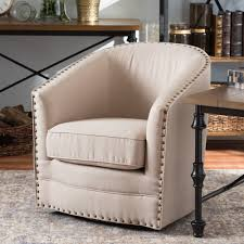 Upholstered Swivel Chairs For Living Room Chair Awesome Upholstered Barrel Chair Solid And Manufactured