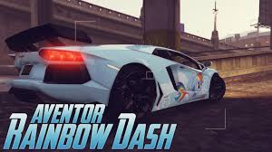 rainbow lamborghini my little pony