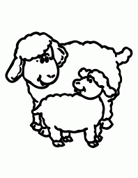 lamb coloring page coloring home