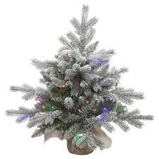 target white christmas tree lights 2ft pre lit white frosted artificial christmas tree with burlap base