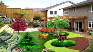backyard landscaping ideas for sloped yard landscape the garden