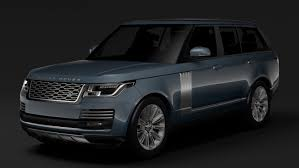 land rover suv 2018 range rover autobiography l405 2018 3d model in suv 3dexport
