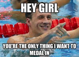 Medal Meme - hey girl you are the only thing i want to medal in funny swimming