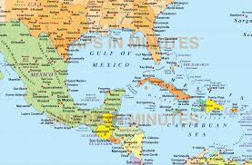 political map of central america and the caribbean america map including central america bugbog political map