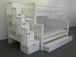 Bedz King Stairway Twin Over Full Bunk Bed With Trundle  Reviews - Full bunk bed with stairs
