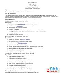 How To Make A Resume For Bank Teller Job by Resume Resume Bank Teller