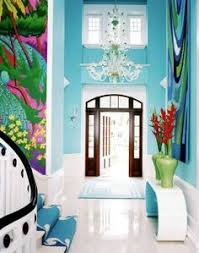 home inside colour design i love this blue entryway painted walls with bright colors
