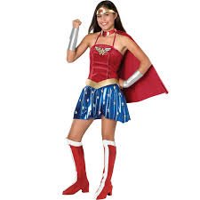 spirit halloween costumes for womens justice league dc comics wonder woman teen costume from