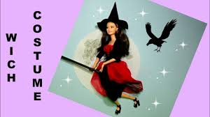 halloween costume for barbie diy for dolls witch costume youtube