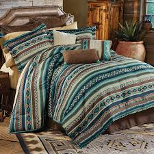 Cowboy Bed Sets Turquoise River Bed Set King