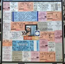 ticket stub album a way to save all those ticket stubs journal and scrapbook
