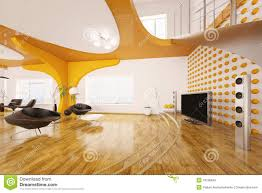 modern interior design of living room 3d render royalty free stock