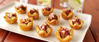 pastry meatball marinara tartlets