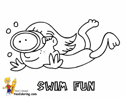 swimmer coloring page coloring home