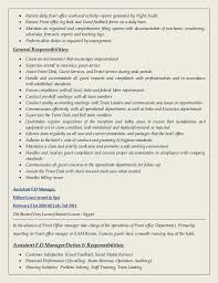 Spa Front Desk Job Description Ahmed Hussein Cv Updated
