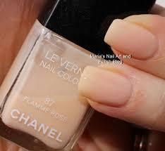 marias nail art and polish blog chanel ballerina 167 flamme rose