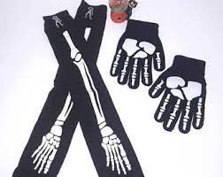 Glow In The Dark Skeleton Costume Skeleton Costume Etsy