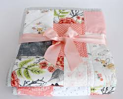 Crib Bedding Etsy by Patchwork Baby Quilt Homemade Baby Quilt Pink U0026 Grey Nursery Baby
