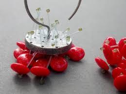 Red Chandelier Earrings Poppy Lipstick Red Bright Polyp Dangle Chandelier Earrings