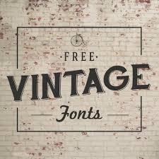 font must haves 004 free vintage fonts fonts vintage and