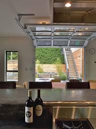 Outdoor Glass Room - 26 glass garage door ideas to rock in your interiors digsdigs