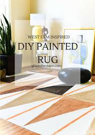 west elm rug west elm inspired diy painted rug