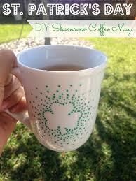 diy st patrick u0027s day shamrock coffee mug this mug is so simple
