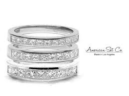 Princess Cut Diamond Wedding Rings by Platinum Channel Set Princess Cut Diamond Half Eternity Wedding