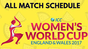 Cricket World Cup Table Icc Womens World Cup 2017 Schedule And Time Table Youtube