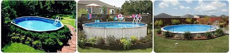 basic aboveground pool landscaping