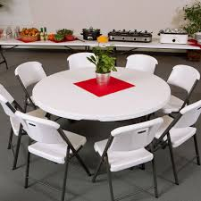 White Round Table And Chairs by Lifetime Round Folding Table 60