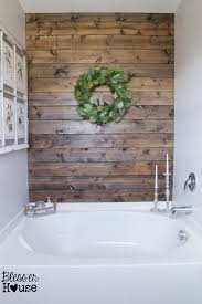 bathroom accent wall ideas walking the plank master bathroom progress planked walls walls