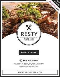 13 good looking u0026 free restaurant flyers templates utemplates