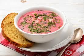 cuisine froide cuisine polonaise et russe de soupe froide à betterave image stock