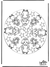 mandala 1 coloring pages christmas